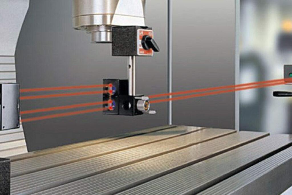 Immagine della calibrazione laser CNC