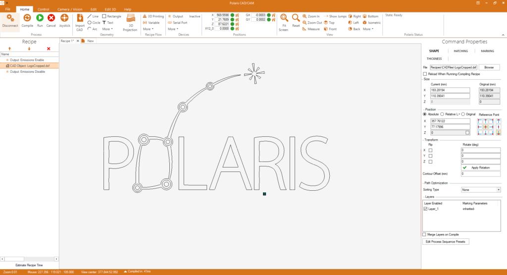 Bild von Polaris CAD / CAM HMI für die Präzisionslaserherstellung