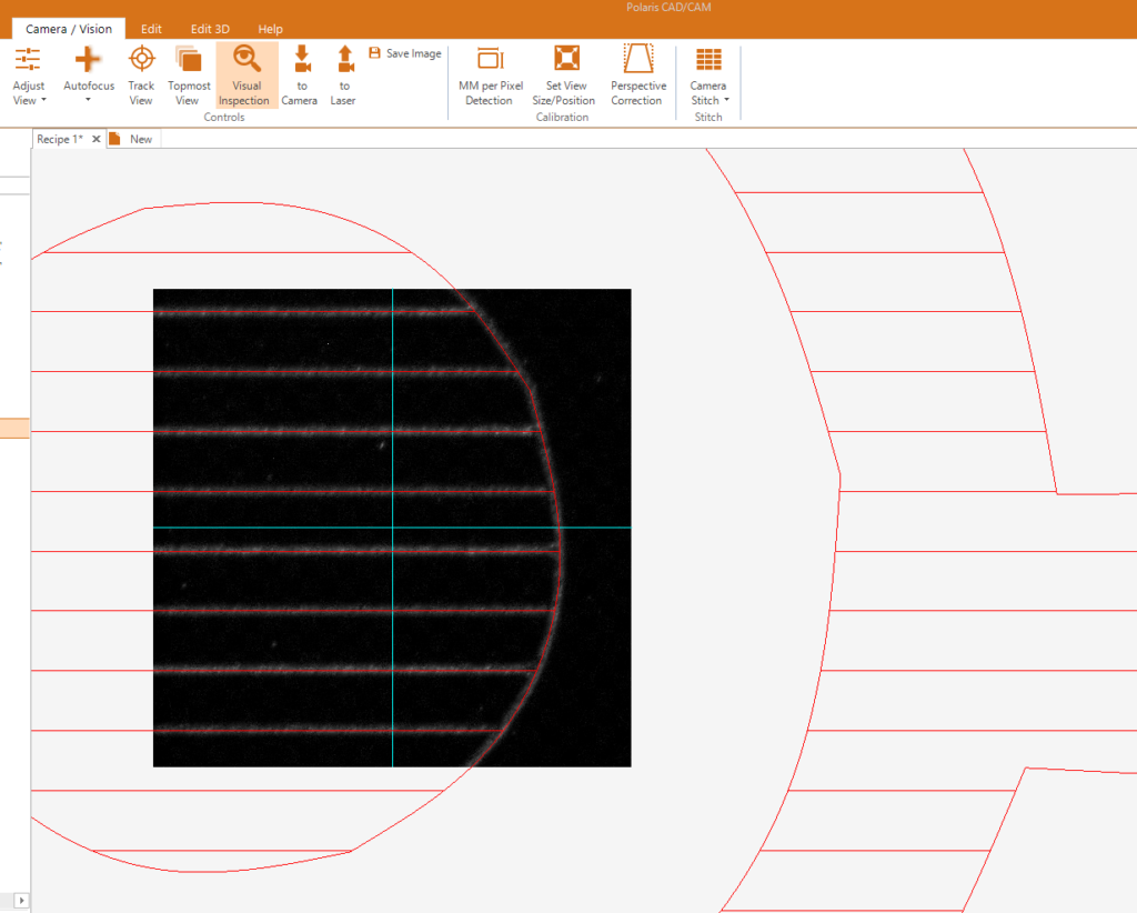 Image of PCC Machine Vision screen